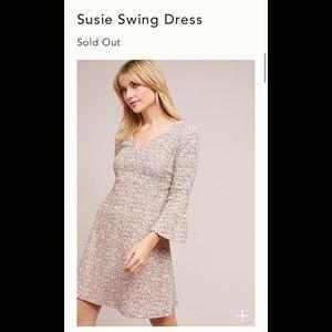 New Sz L Anthropologie Maeve Susie Swing Dress